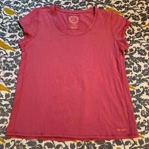 Life is Good Pink Cap Sleeve Tee EUC Size XL